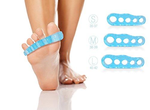 Zehenspreizer by Blissany - Yoga für Ihre Füße - Entspannt, trainiert und korrigiert Ihre Zehen, 1 Paar (Large)