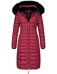 cdc6bf04f3d2ab Navahoo Damen Wintermantel Mantel Steppmantel Winter Jacke lang Stepp warm  Teddyfell B670