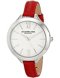 Stuhrling Original Vogue 975 975.02 - Reloj de pulsera Cuarzo Mujer correa dePiel Rojo