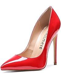 6271b7f3e53 CASTAMERE Escarpins Femme Talon Fête Mariage Sexy Talon Haut Aiguille Bout  Pointu High Heels Chaussures Stilettos