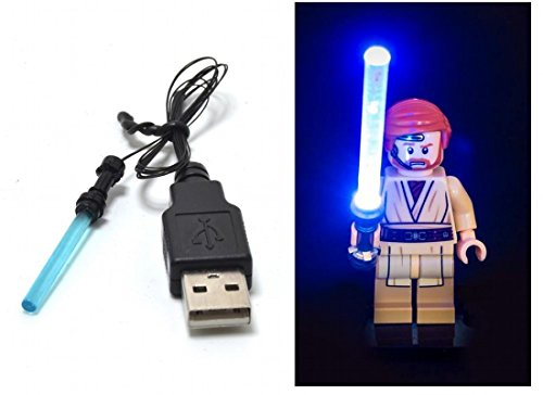 ARUNDEL SERVICES EU LED Blau Lichtschwert für Lego Star Wars Minifigur Spielzeug Lego Licht Kit Lichtschwert Led Lego Lichter Lego Lichter Bausteine Lego kompatibel