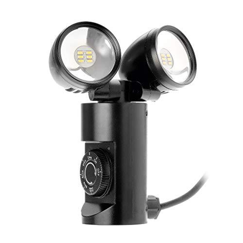 LED Strahler außen - Tolles Ambiente und schöne Lichtakzente in Ihrem Garten - Gartenlampe mit Erdspieß - Dämmerungssensor, Countdown Funktion - Energieeffizienz A+ - 2 Spot