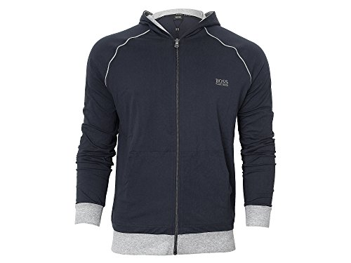 BOSS Hugo Boss Herren Trainingsjacke Jacket Hooded (L, 403 Dark Blue)
