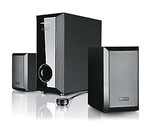Speedlink Gravity X-XE 2.1 Lautsprechersystem (35,5 Watt RMS Gesamtleistung, Tischfernbedienung, Holzgehäuse)
