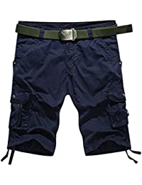 YiJee Short Cargo Style Bermuda Pantacourt Casual Homme