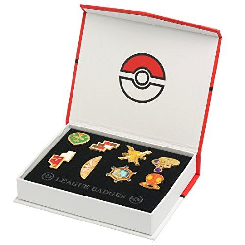 Preisvergleich Produktbild Katara 1719 - Pokémon Go alle 8 Arena-Orden in Geschenk-Box für Ash Ketchum Cosplay, Kostüm: 6. Generation Kalos League