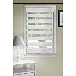 Achim Home Furnishings Cordless Celestial Sheer Double Layered Shade, 34 by 72, Linen