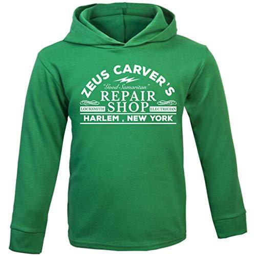 Cloud City 7 Die Hard Zeus Carvers Repair Shop Baby and Kids Hooded Sweatshirt (John Mcclane Kostüm)