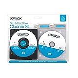 2 in 1 Scheibe und Laufwerk reinigungsset CD DVDs Games