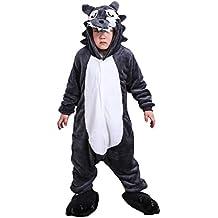 Cliont Niños Animal Lobo Onesie pijama Kigurumi Navidad niño traje de noche Cosplay Anime