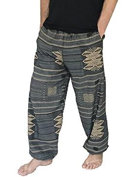Amor Calidad Baggy–Pantalones de escalada para hombre talla única Impreso 100% algodón harén pantalones hippie...