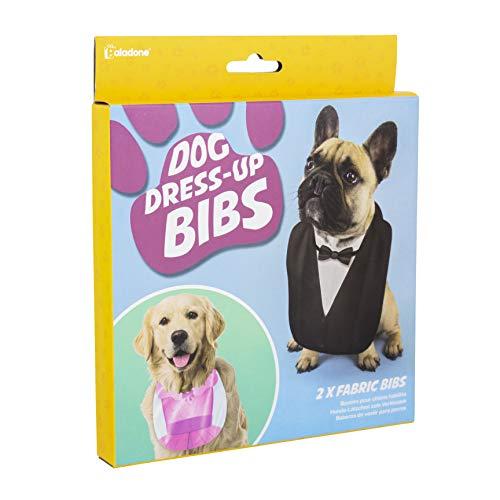 Paladone Lätzchen für Hunde, zum Verkleiden des Hundes in 4 verschiedenen Kostümen, 2 doppelseitige Stoff-Lätzchen, zum Anklippen an Ihrem Halsband (Machen Kostüm Für Zwei Freunde)
