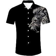 TUONROAD Hawaiian Shirt, 3D Hawaiian Shirt Druck Funky Hawaiihemd,Herren  Kurzarm Hawaii-Print 1bd9db5b02