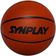 SYNPLAY Rubber Trainer Basketball, Size 7 (Orange)