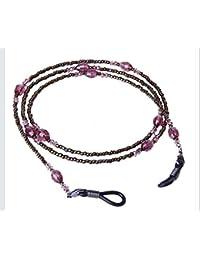 Gafas de retención de cadena con cuentas de cristal, cadena de cordón, 1 pieza