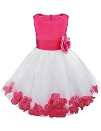 iEFiEL Vestido de Flores Boda Niña Vestido de Princesa Fiesta Infantil Elegante Bautizo Ceremonia Niña