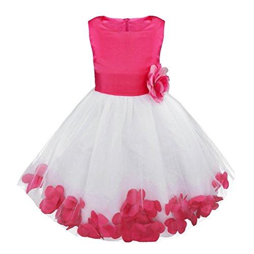 844276a575b49 freebily-Filles-Enfants-Robe-dhonneur-Floral-Tulle-Soirée-