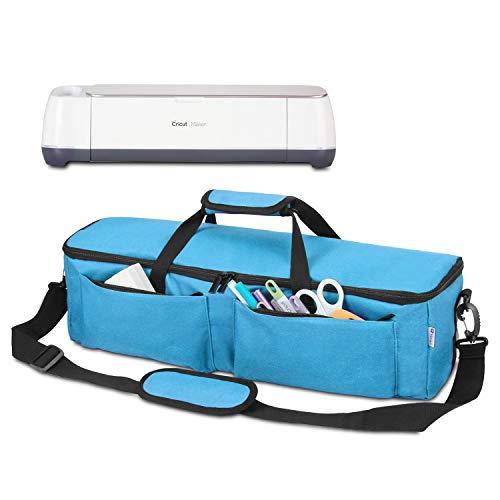 Yarwo Craft Tragetasche, kompatibel mit Cricut Explore Air, Air 2, Maker und Silhouette Cameo 3, Werkzeugtasche für Schneidemaschine und Zubehör (nur Tasche) Lightweight himmelblau - 3 Taschen Für Zubehör