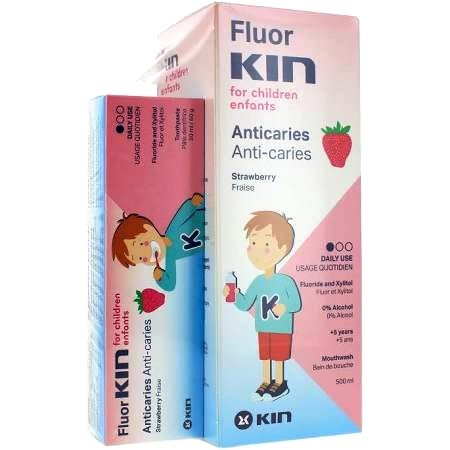 Fluor Kin Inf Enjuague + Pasta 50 Ml