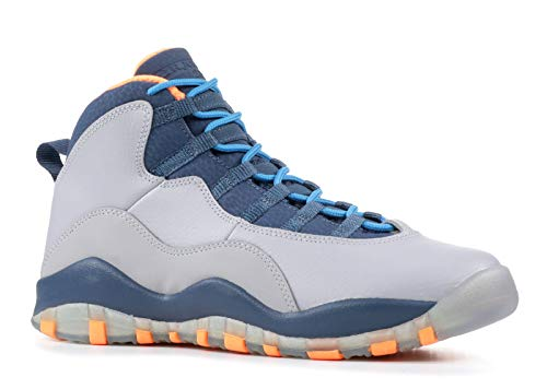 Nike Air Jordan 10 Bobcats Retro Kinder Grade School Turnschuhe Grau / Orange 310806-026 (Schuhe Jordan Grade School)