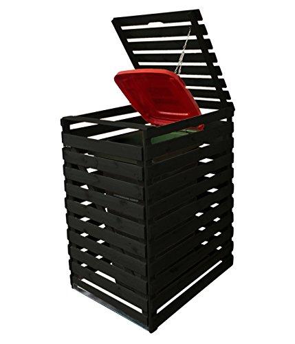 Mülltonnenbox Holz V für eine Tonne 240 Liter, Anthrazit