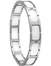 Bering Damen-Armband Ceramic Link Edelstahl Keramik Zirkonia weiß 18.5 cm - 602-15-185