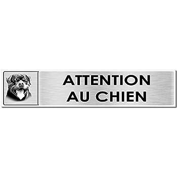 Autocollant.fr Plaque Attention au Chien Rottweiler