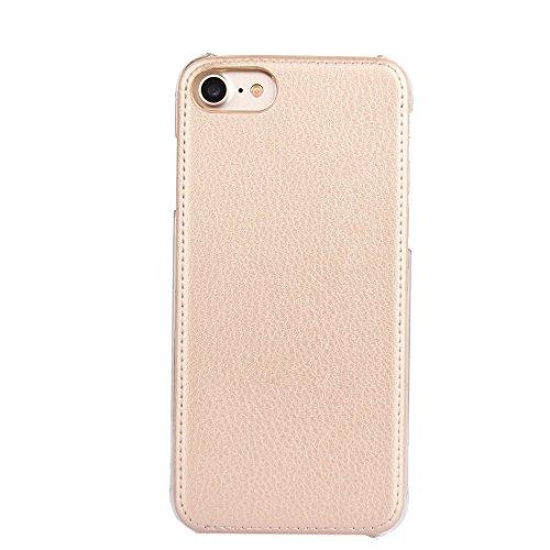 GHC Cases & Covers, Für iPhone 7 PU-lederner schützender rückseitiger Abdeckungs-Fall ( Color : Black ) Gold