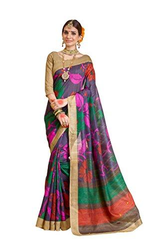 Samskruti Sarees Women's Raw Silk Saree(SLEESA-117_Multicolor)