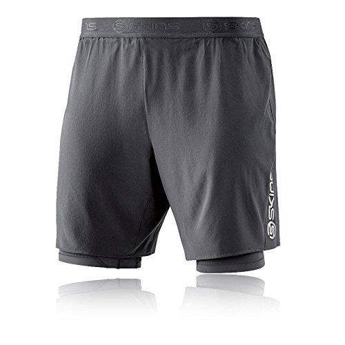 Skins Shorts DNAmic, Schenkelmitte, zweilagig, für Herren XL Tarmac