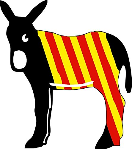 Aufkleber Auto, Motorrad, Wandtattoo, vinyl, Katalanischer Motiv Flagge burro Katalonien