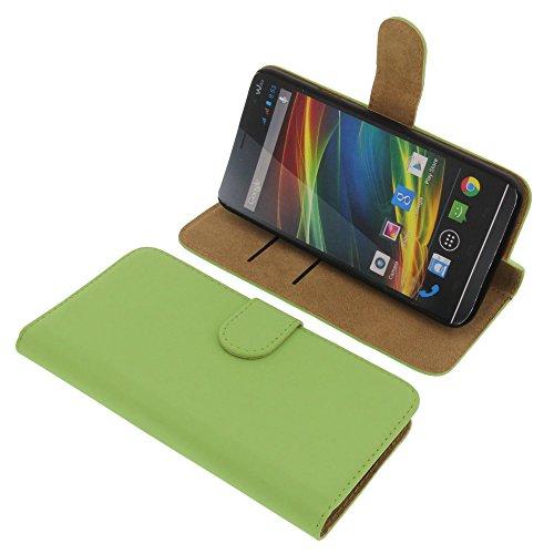 Tasche für Wiko Slide Book Style Ständer Schutz Hülle Buch grün