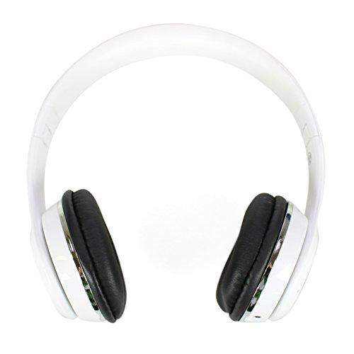 STYLETEC faltbare Bluetooth Kopfhörer - mit Mikrofon für Freisprechfunktion - inkl. AUX Kabel & Tasche (weiß)