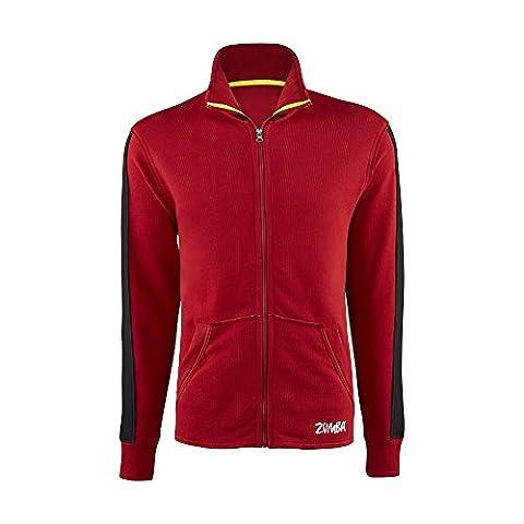 Zumba Miroir Me Men's Track Jacket rouge So Samba Pink moyen