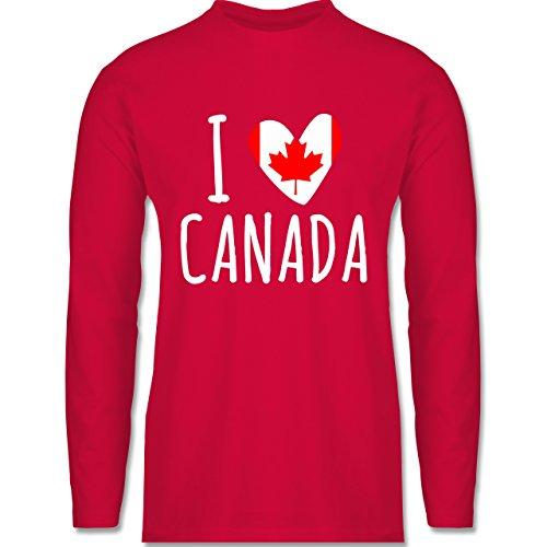 Shirtracer Love - I Love Canada - Herren Langarmshirt Rot