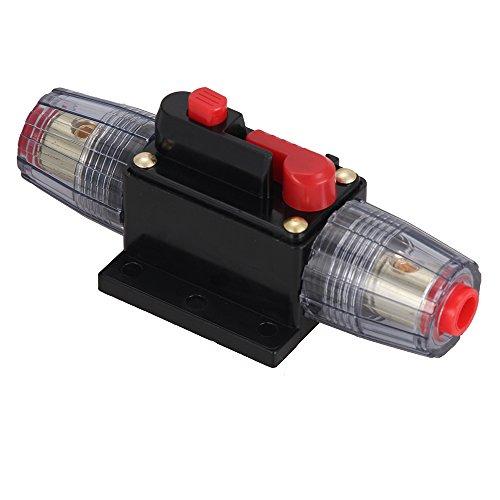Foxpic DC 12-36V 30A Disyuntor Cortacircuitos Circuit Breaker Fusible Protección para Audio Estéreo Coche Barco RV Sistema Eléctrico