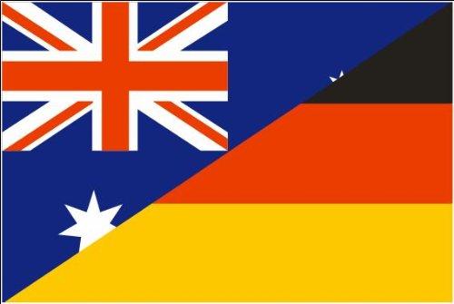 Deutschland / Australien Freundschaftsfahne Fahne / Flagge Größe 1,50x0,90m Freundschaft