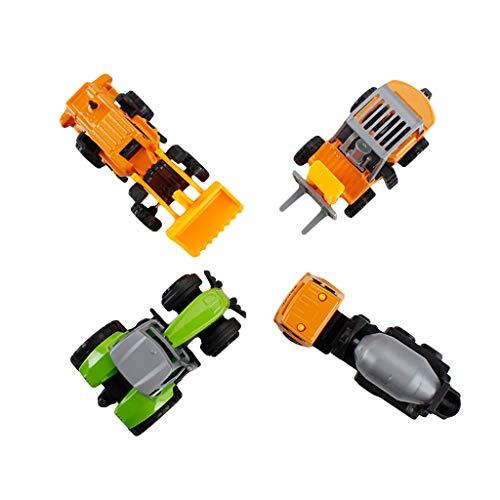 ische Modell Bagger LKW Set High Speed Alloy Engineering Fahrzeuge Fahren Klettern Stoßfest Off-Road Allradantrieb Spielzeugauto Gutes Geschenk Für Kinder (A, Gelb&Grün) ()