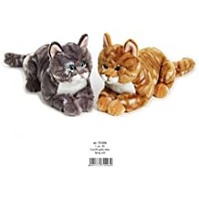 Kelly 30cm de mentira del gato de peluche de juguete (Brown)