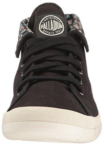 Palladium Aventure, Sneakers Basses Femme Noir (Black/marshmallow/pyramid Print)
