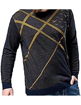 Otoño E Invierno Cálido Mangas Largas Cuello Redondo Suéter Suéter Camisa De Gran Tamaño De La Camisa