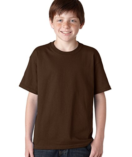 gildan-t-shirt-manches-courtes-homme-marron-chocolate-scuro