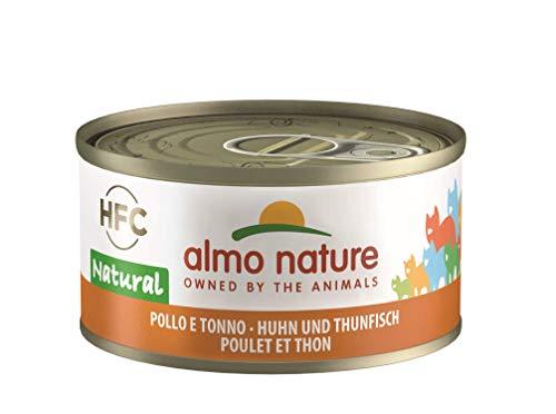 Almo Nature HFC Natural Katzenfutter - Huhn und Thunfisch 24x70 g