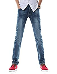 b5cb726aa0 Demon Hunter 817 Straight Series Hombre Pantalones Vaqueros Recto Jeans