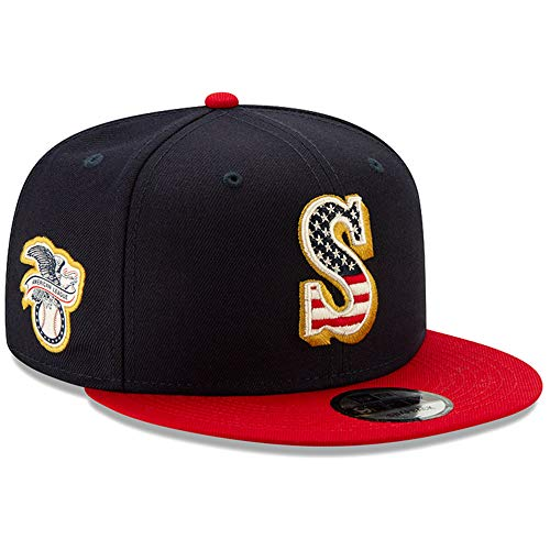 New Era Seattle Mariners 4th of July 2019 MLB 9FIFTY Snapback Cap, One Size