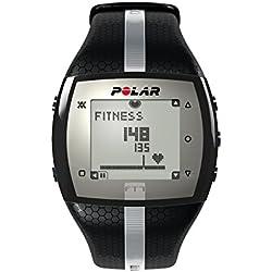 Polar FT7 - Reloj con pulsómetro e indicador de efecto del entrenamiento para fitness y cross-training, color negro y plata