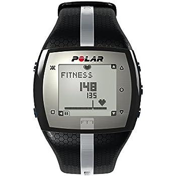 Polar FT7 Cardiofrequenzimetro, Resistente all'Acqua fino a 30 m, Taglia Unica, Nero/Argento