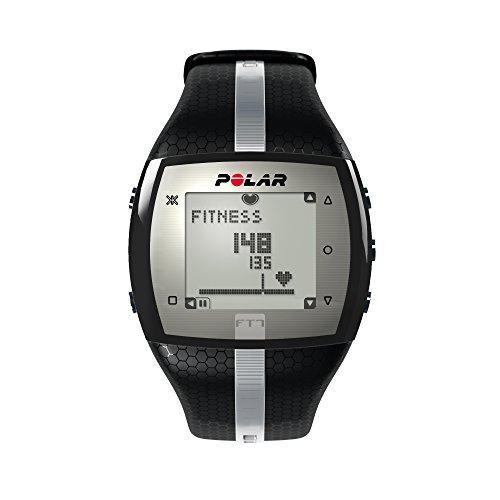 Polar Herzfrequenz-Messgerät Fitness Uhr, Schwarz/Silber, One Size, 90054890