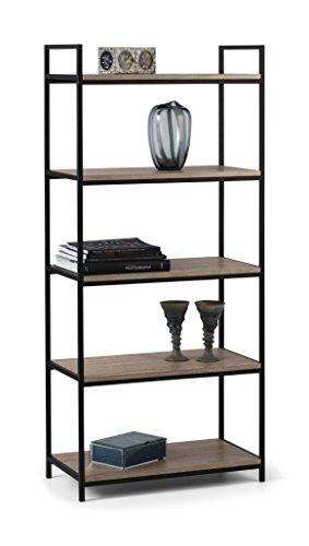 Julian Bowen Tribeca Tall Bookcase, Metal, Black