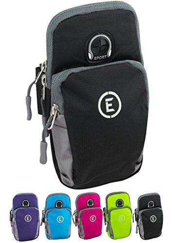 Echelon Line Premium Fitness Armband Handy Hülle Arm Jogging Tasche Rennen Workout Smartphone Laufen Sportarmband Schlüssel Halter für iPhone und Samsung  (Golf Taschen Billig)